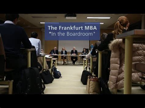 Mba Frankfurt by The Frankfurt Mba In The Boardroom With Prof Dr Klaus