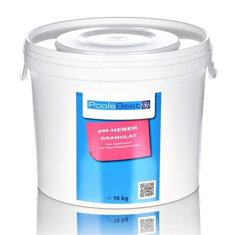 chlor shop 10 kg poolsbest 174 ph heber granulat pool chlor shop