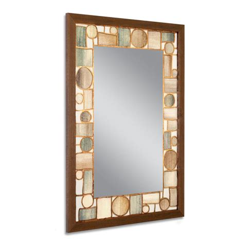 deco mirror mirrors 36 in x 24 in etched geometric wall deco mirror 24 5 in w x 34 5 in h oak park wall mirror