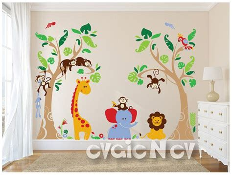 jungle themed wall stickers 25 best ideas about childrens wall decals on