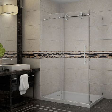 48 Inch Shower Stall by Aston Langham 48 Inch X 35 Inch Frameless Shower Stall