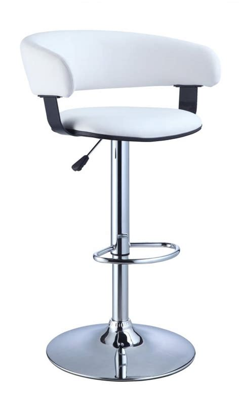 white leather bar stools contemporary 35 stylish modern adjustable white leather bar stools