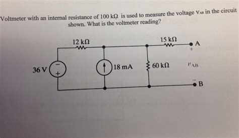series resistance questions voltmeter with an resistance of 100k ohms chegg