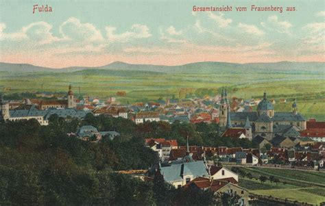 Postkarten Druckerei Fulda by Fulda Hessen Stadtansicht Vom Frauenberg Zeno Org