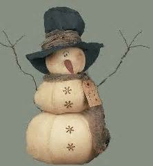 primitive snowman by cake ideas and designs