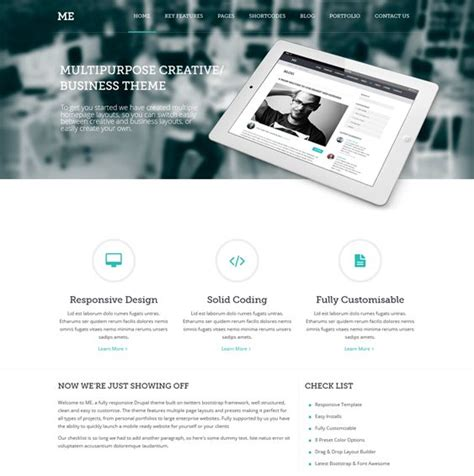 drupal theme header 18 best 18 of the best parallax drupal themes images on