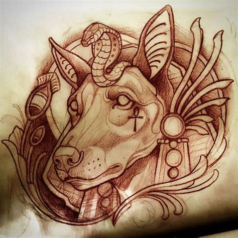 anubis tattoo designs 1000 ideas about on