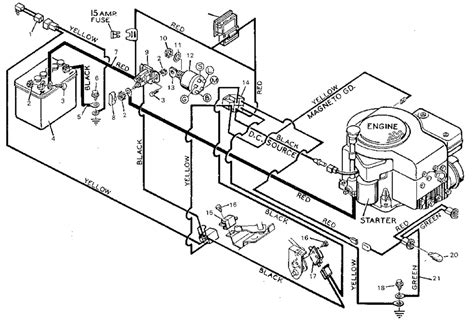 ignition switch wiring diagram for a lawn mower