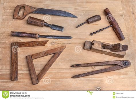 ancient woodworking tools woodworking tools stock images image 38084144
