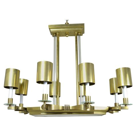 Large Art Deco Style Modernist Chandelier For Sale At 1stdibs Deco Style Chandelier
