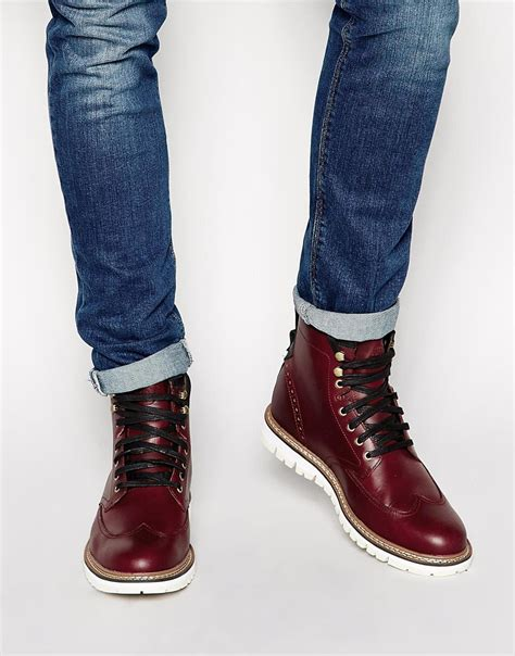 wing boots lyst timberland earthkeepers wing tip boots in for