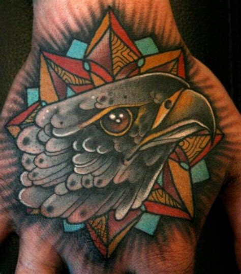 new school eagle tattoo designs new school hand eagle tattoo by mitch allenden
