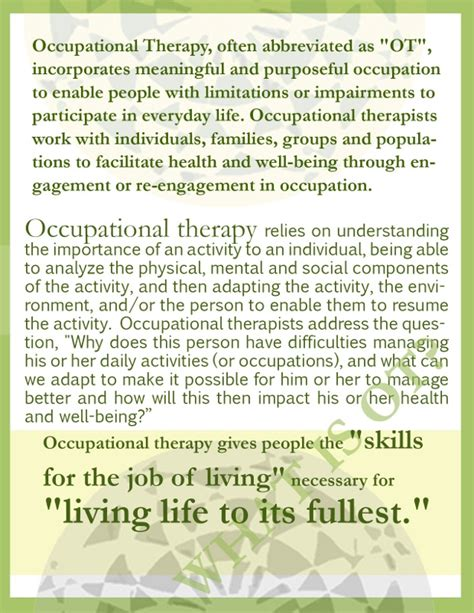 themes of meaning occupational therapy famous occupational therapy quotes quotesgram
