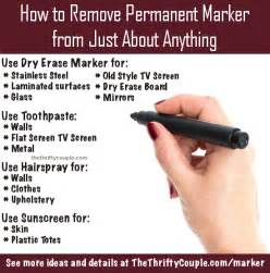 how to remove permanent marker from just about anything
