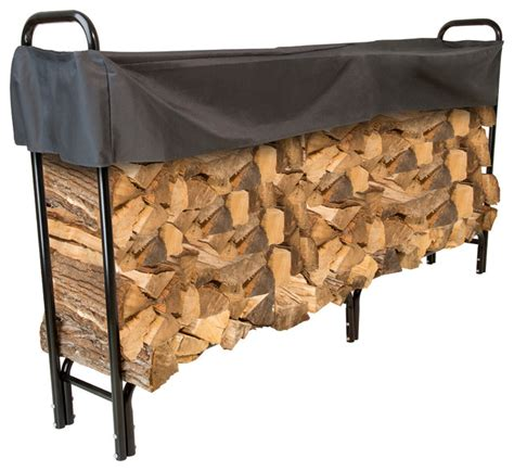 diy firewood rack cover firewood rack with cover contemporary firewood racks by trademark global