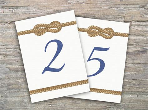 nautical table numbers nautical themed table numbers 28 images printable