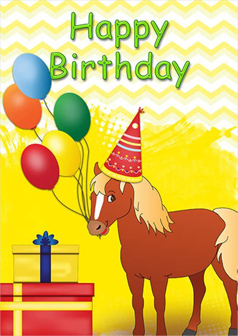 printable birthday cards horses free birthday card for kids gangcraft net