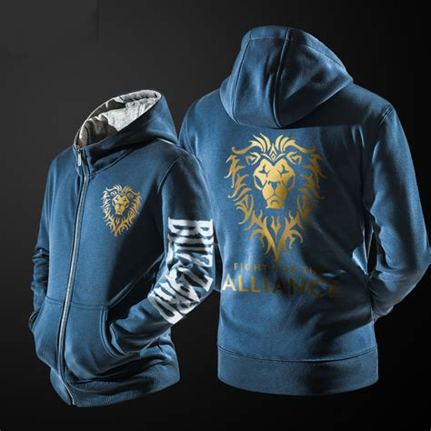 Hoodie Warcraft For The Alliance Fightmerch cool wow alliance hoodie black world of warcraft clothing for him wishining