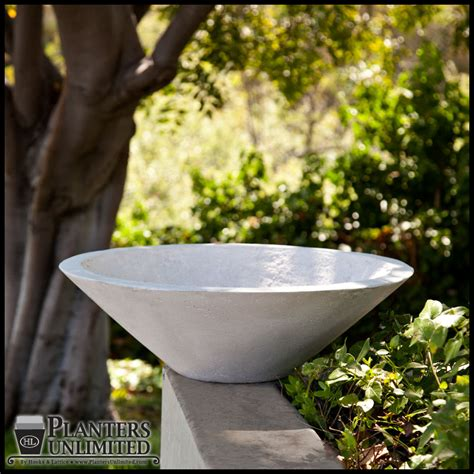 Concrete Bowl Planter by Concrete Flower Planters Low Bowl Planters Planters