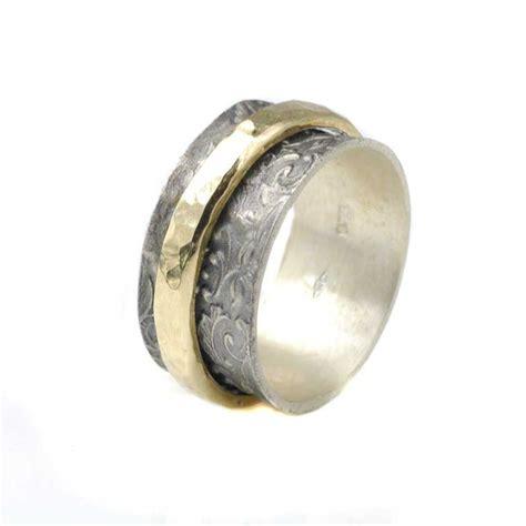bicolor ring bicolor ring aus oxidiertem 925 silber drehbare