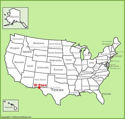 el paso map el paso location on the u s map