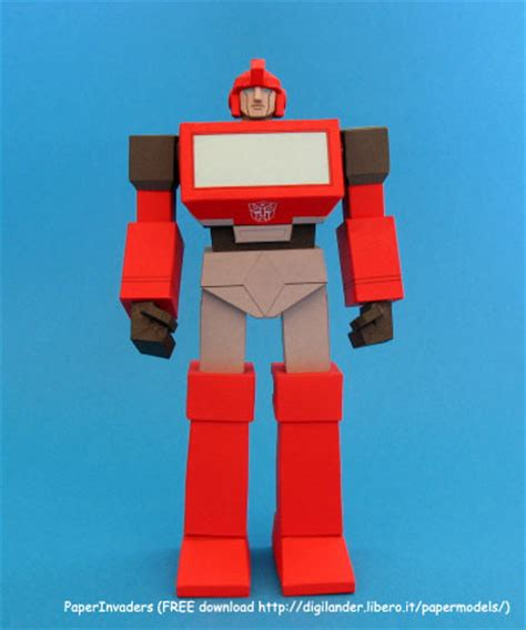 How To Make A Robot With Paper - paperinvaders ironhide