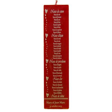 Calendrier Des Noces De Mariage Bougie Anniversaires De Mariage 20 Ou 24 Cm Cadeaux