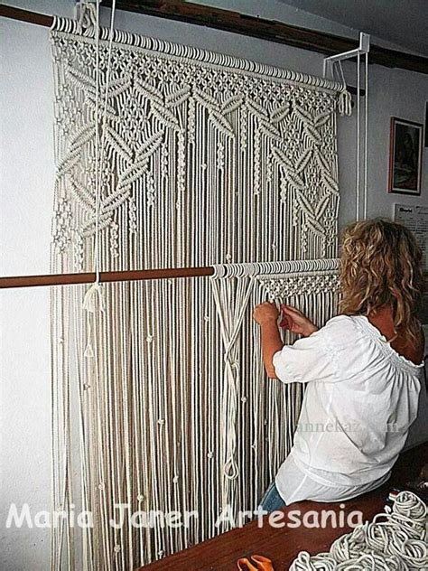 macrame curtain panels macrame diy pinterest beautiful macrame curtain