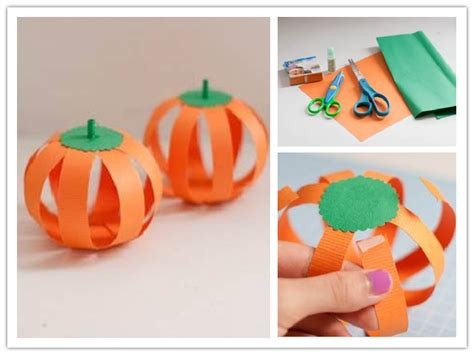 How To Make A Paper Pumpkin - how to make paper pumpkin step by step diy