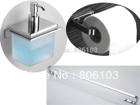 Chrome Plated Brass Bathroom Accessories Bathroom Accessories Chrome Plated Brass Bathroom Set Single Towel Bar Toilet Paper Holder Soap