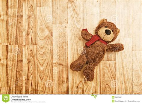 teddy on the floor royalty free stock photography
