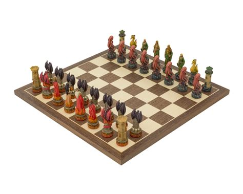 themed chess sets the water vs fire hand painted themed chess set by