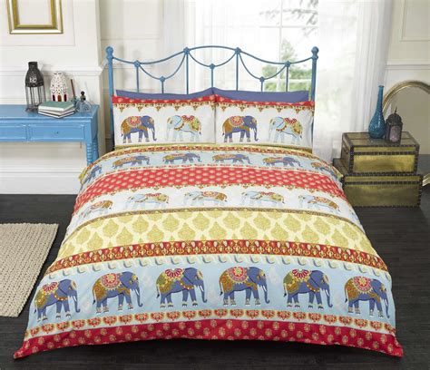indian style elephant quilt duvet cover pillowcase