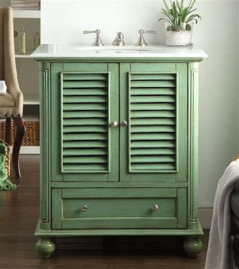 Green Bathroom Vanities 30 Cottage Look Light Green Bathroom Sink Vanity Keysville Marble Top Hf087g Ebay