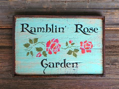 Garden Signs And Decor Cottage Chic Decor Rustic Wood Signs Garden Signs Garden