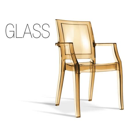 fauteuil transparente design glass structure en polycarbonate