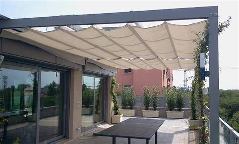 pergole da terrazzo pergole e coperture per esterno in ferro tendasol