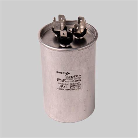capacitor tariff code motor run capacitors 370vac dual capacitance metal can diversitech