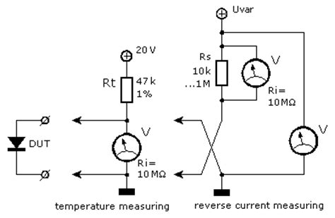 how to measure diode junction temperature diode measurements electronic measurements