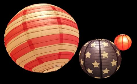 blue paper lantern string lights 8 12 14 quot 4th of july red white and blue round paper