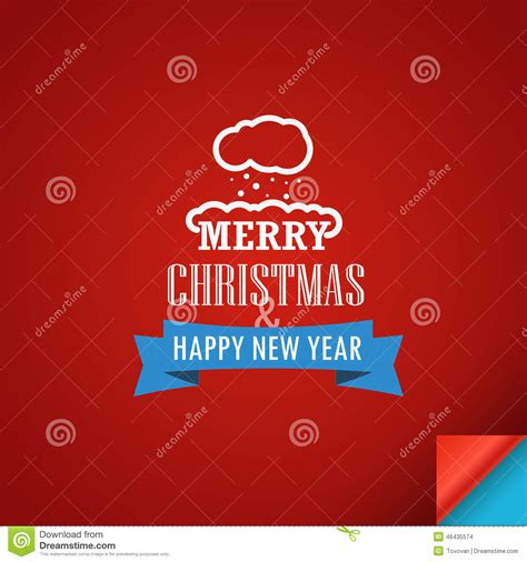 new year greeting card template merry and a happy new year greeting card stock