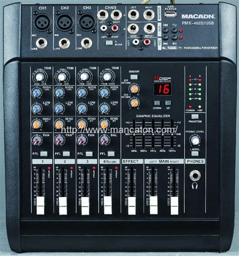 Mixer China 4 Channel 4 6 channel audio mixer pmx 402d usb macadn china