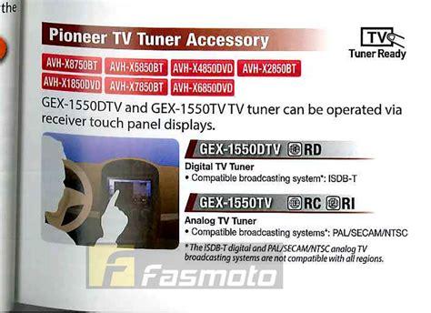Tv Tuner Pioneer Gex 1550tv pioneer gex 1550tv hideaway analog tv tuner for pioneer receivers ebay