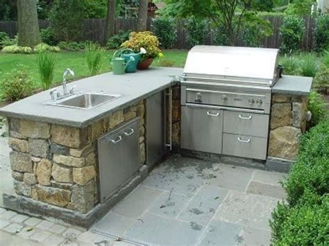 Backyard Decorating Ideas Home L Shaped Outdoor Kitchen Dimensions Stainless Steel