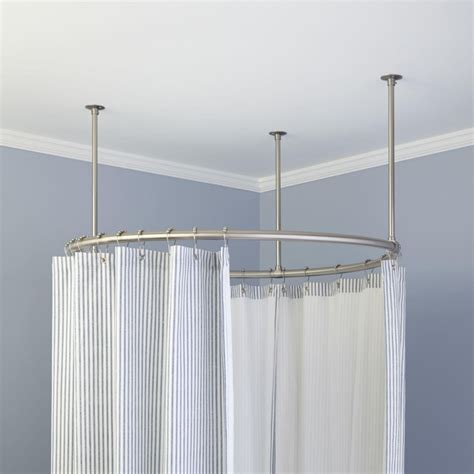 Rod Shower Curtain by Circular Shower Curtain Rod For Outdoors Shower Curtains