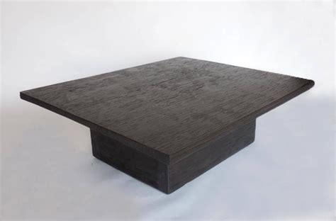 custom reclaimed wood cube coffee table in espresso finish