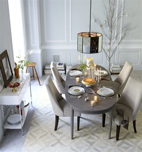 Dining Room Table Setting Furniture Wooden Dining Table Set Up On Textured Dining Room Rug Covering Fair Gray