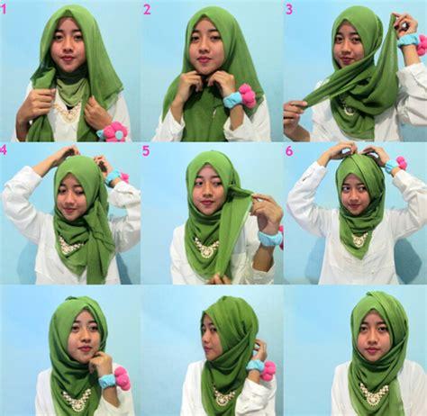 tutorial jilbab gambar model hijab terbaru segi empat yang lagi trend september