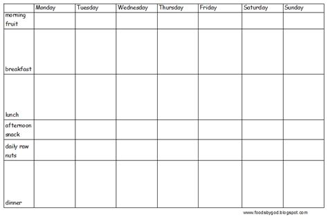 blank meal plan printable blank weekly meal planner pictures to pin on pinterest