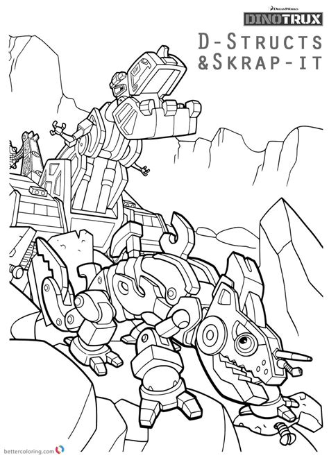dinotrux coloring page printable dinotrux coloring pages sketch coloring page
